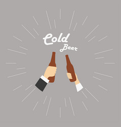 two hands with cold vector image