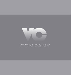 Vc v c pastel blue letter combination logo icon vector