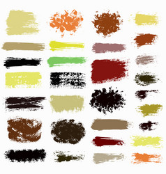 brush strokes set 0015 vector image