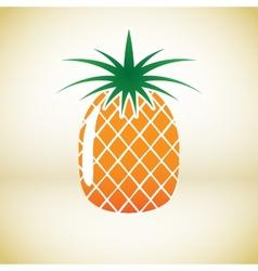 Pineapple symbol vector image vector image