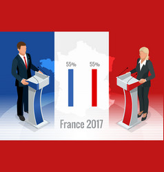 presidential election in france 2017 ballot box vector image