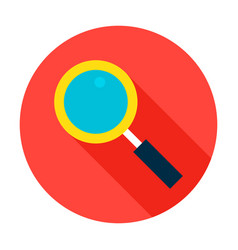 search flat circle icon vector image vector image