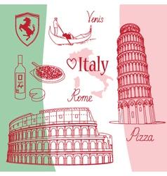 Symbols of Italy vector image vector image