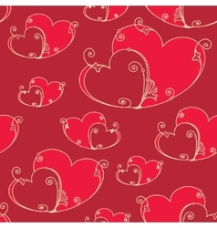 Valentines day seamless background with hearts vector image vector image