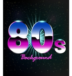 80s Retro Background vector image vector image