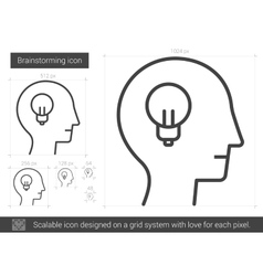 Brainstorming line icon vector image