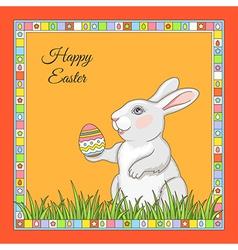 cartoon rabbit frame vector image