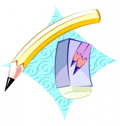 eraser vector image