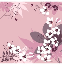 Floral frame with spring flowers vector image vector image