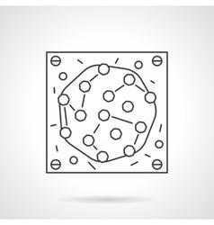 Microbe icon flat line design icon vector image vector image