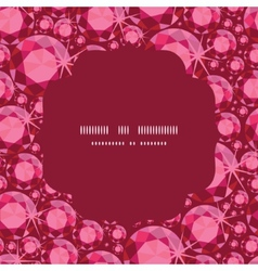 ruby circle frame seamless pattern background vector image