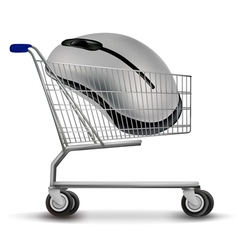 shopping cart with mouse vector image