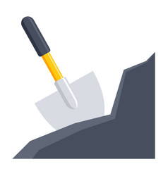 shovel in the ground vector image