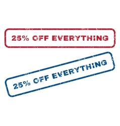 25 Percent Off Everything Rubber Stamps vector