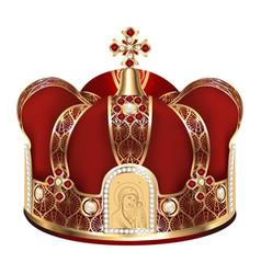 a golden crown for a wedding in a church vector image