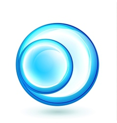 Abstract swirl circle banner vector image vector image