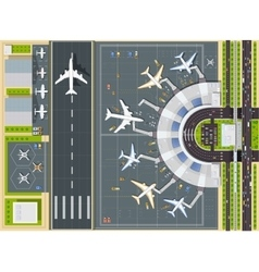 Airport view from above vector