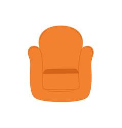Armchair isolated cartoon seating place vector