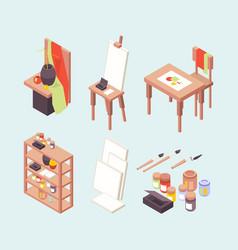 Art studio professional artists designers vector