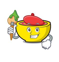 Artist soup union character cartoon vector