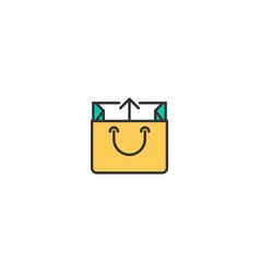 bag icon line design business icon design vector image
