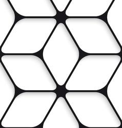 Black hexagon net seamless pattern vector