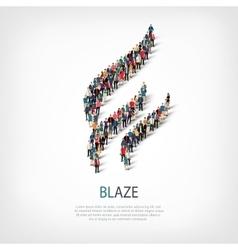 Blaze people sign 3d vector