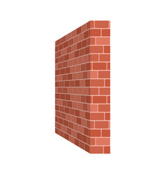 Brick wall perspective isolated on white vector