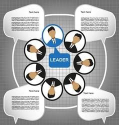 Business leader of the team design flat style Digi vector