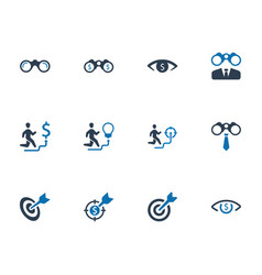 business vision icons vector image