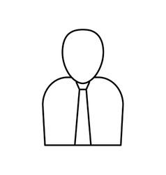 Businessman executive pictogram vector
