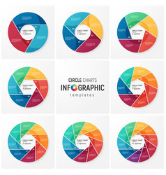 Circle chart infographic templates for data vector