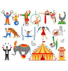 circus artist characters collection vector image