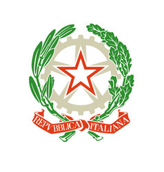 coat of arms emblem of the italian republic vector image
