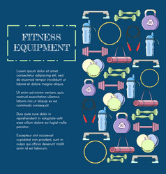 Concept of sport equipment background vector
