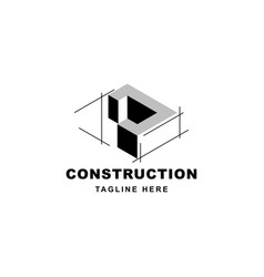 Construction logo design with letter j shape icon vector