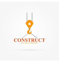 Crane logo for construction company vector
