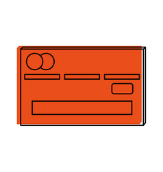 Credit or debit card icon image vector