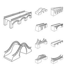 Design landmark and structure symbol vector