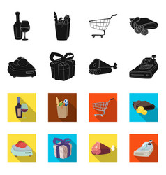 design of food and drink symbol set of vector image