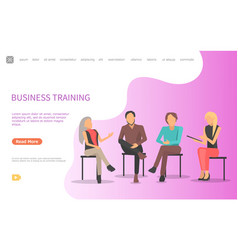 discussion business training with coworkers vector image