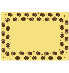 dog muddy tracks vector image