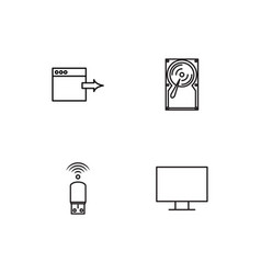 Electrical devices linear icons set simple vector