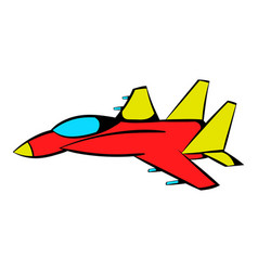 fighter aircraft icon icon cartoon vector image
