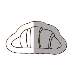 Figure croissant bread icon vector