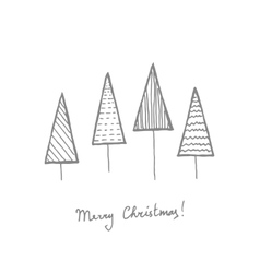 Fir trees postcard vector image