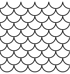 fish mermaid dragon snake scales tail scale vector image