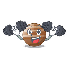 Fitness planet jupiter in form of cartoon vector