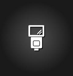 flush bulb icon flat vector image