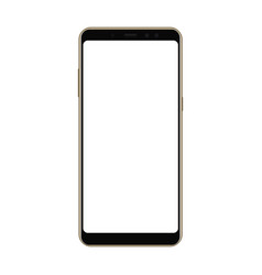 Frameless smartphone mock up with blank screen vector